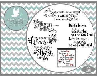 Your Wings Were Ready Memorial Collection LL074  - SVG - Cutting File - Graphic Design - ai, eps, svg, dxf (for Silhouette users), png, jpg