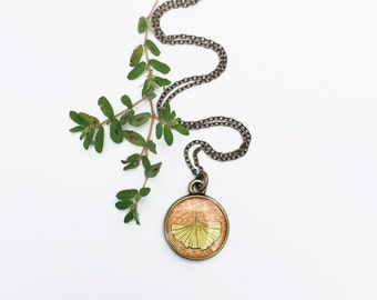 NATURE JEWELRY | Ginkgo Necklace, Leaf Necklace, Leaf Jewelry, Ginkgo Leaf, Ginkgo Jewelry | Fall Style, Yellow Orange Pendant