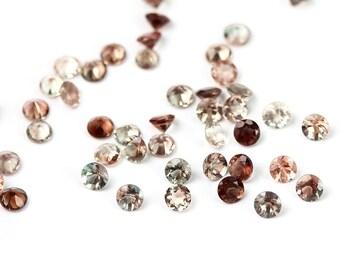 Oregon Sunstone Round Cut Faceted Gemstone 4 MM Ponderosa Dark Blue Red Pink Schiller Semi Precious Gemstone