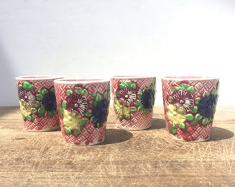 Vintage cups / votive / jars - Set of 4