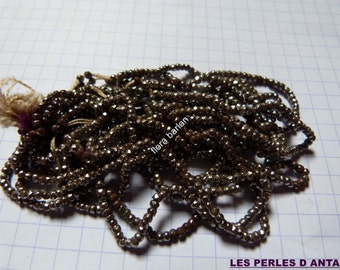antique french steel cut beads