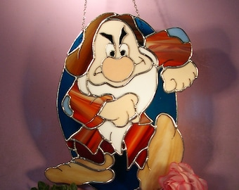 Stained Glass Suncatcher Disney Grumpy  (701)
