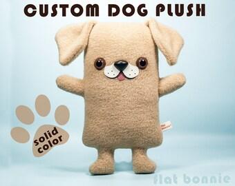 Customized Dog plush, Custom doggy stuffed animal, Solid color, Personalized pet memorial, Custom pet plushie, Handmade dog lover gift