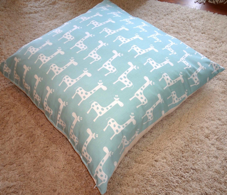 Etsy Large Floor Pillows : Large Floor Pillow Cover Blue Giraffe Floor Pillow Cover