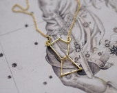 Orion constellation necklace 18k gold plate