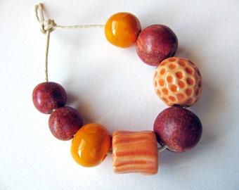 Autumn Sunset Beads (8)