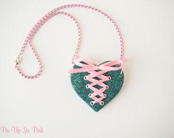Corset Heart Necklace