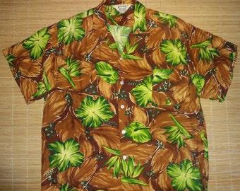Men's Vintage 60s Aloha Rayon Hawaiian Aloha Shirt - M -The Hana Shirt Co