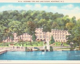 Montreat, North Carolina, Assembly Inn, Lake Susan - Vintage Postcard - Postcard - Unused (M1)