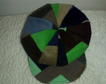Custom Patchwork newsboy beret hat made for you