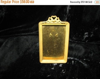 Valentine SALE Small French Empire Ormolu Gilt Frame Ribbons and Bows