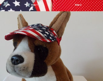 Dog visor, reversible (two fabrics), comfortable and colorful. V1   Can be personalized .