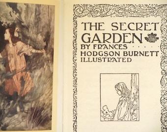 vintage The Secret Garden by Frances Hodgson Burnett illustrated by Charles Robinson