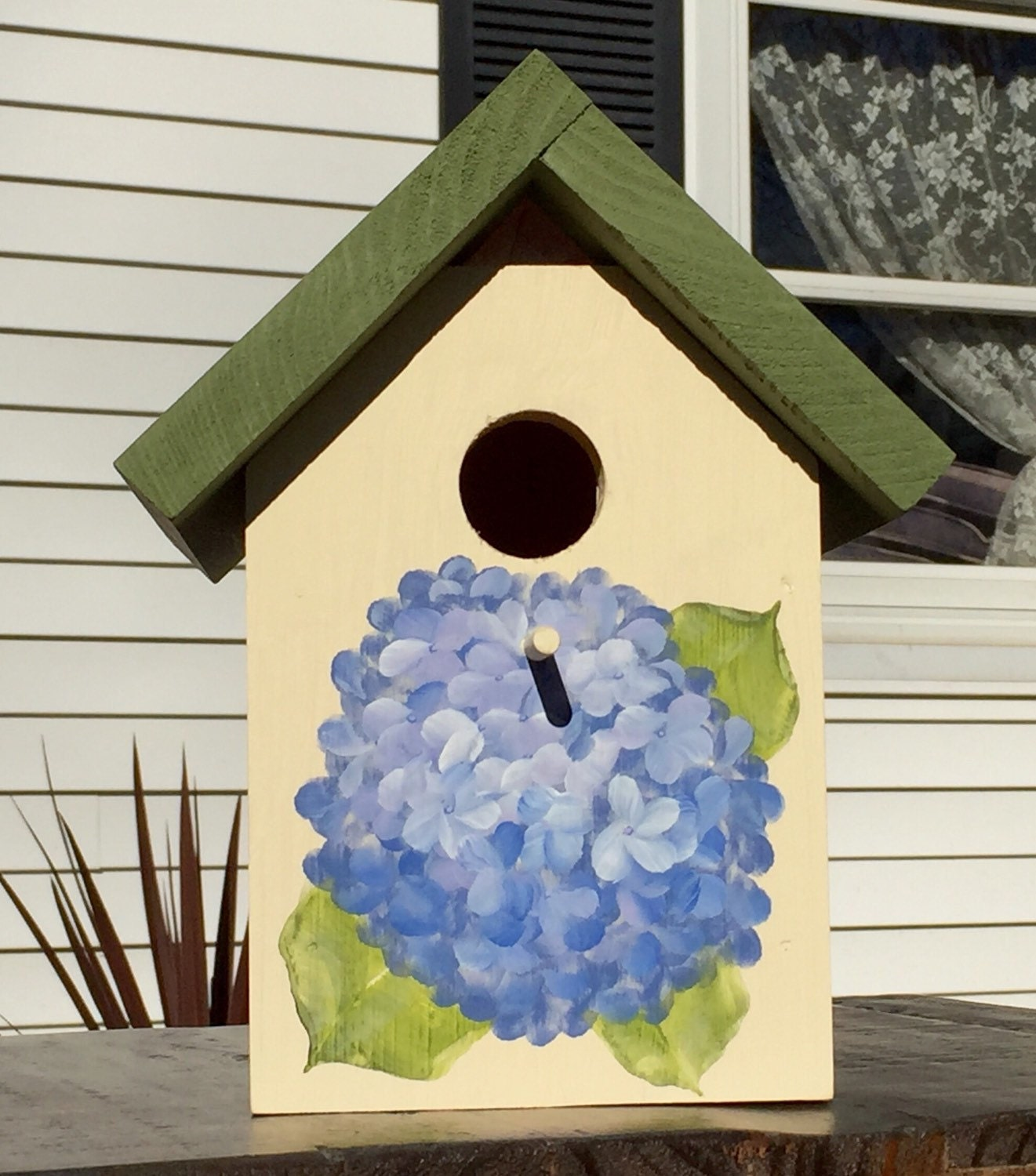 Blue Amp Violet Hydrangea Bird House