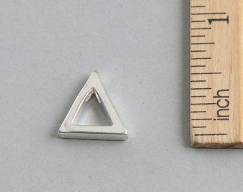 Triangle Charm, Silver Triangle Pendant, Sterling Silver Charm, Sterling Silver cut out triangle charm, Geometric Charm, 15mm ( 1 piece )