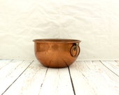 Coppercraft Guild Copper Mixing Bowl, Small Copper Mixing Bowl by Coppercraft Guild, C G Copper Mixing Bowl, Copper Mixing Bowl with Handle