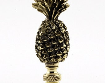 LAMP FINIAL Pineapple antique brass