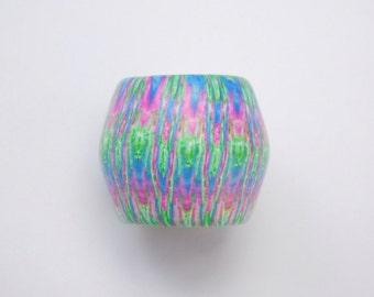 Dread Bead with 13 mm bead hole, Polymer Clay Large Hole Bead