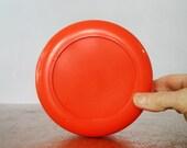 Large Mod Vintage Heller Storage Jar Orange Lid - Massimo Vignelli