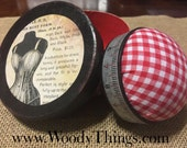 Travel Size Sewing Kit in Round Box with Pin Cushion
