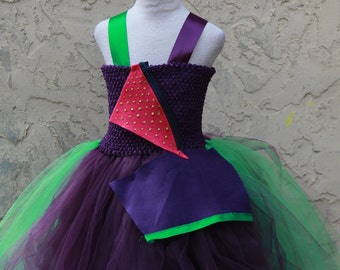 Mal Dress - Descendants Mal Dress - Mal costume - Plum Mal Costume -  Disney Descendants Costume - Plum Green Dress