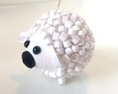 Sheep Eew Valentine Ornament in Bright White White Christmas Decorations