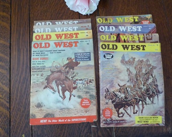 8 Old West Magazines 1964-1965-196-1967 Non-Fiction Old West Stories