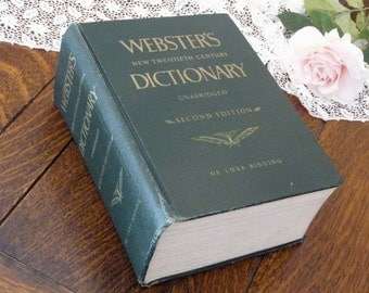 Webster's Dictionary Unabridged 1960 Second Edition, Websters 1960 Dictionary, Huge Dictionary 1960
