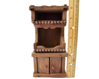 Mini Wooden Hutch Dollhouse Cupboard 1 12 Scale Furniture Wooden Handmade China Cabinet Vintage Dollhouse Kitchen Dining Room