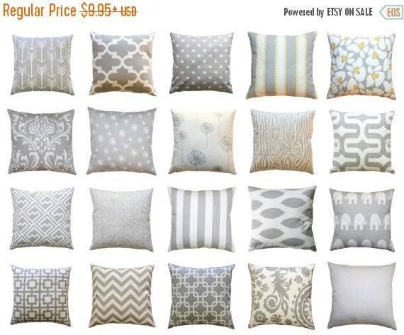 SALE Lumbar Pillows, Storm Grey Pillow Cover, Zippered Pillow, Gray Pillow Case, Cushion Cover, Grey Throw Pillows, Rectangle Decorative Pil