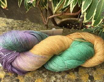 "Laceweight weight silk/baby camel  yarn ""crocus"""
