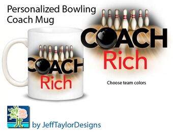 Personalized Bowling Coaches Gift Mug