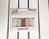 Carpe Diem- The Reset Girl Page Flags (5 designs-30 ea.) by Simple Stories, Snap product for A5/mini planners, scrapbooking, card making