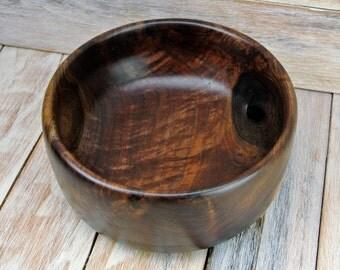 Wooden Centerpiece Bowl - Figured Walnut Wood - Rustic Bowl - Hand Carved Bowl - Walnut Bowl