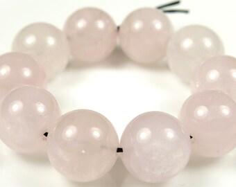 Quality Rose Quartz Round Bead - 12mm - 10 Pieces - B5341