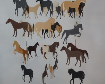 Horse Decorative Baby Mobile in Browns