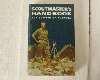 Vintage Scoutmasters Handbook Boy Scouts guide book 1967