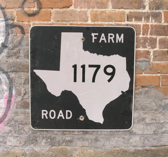 Bryan Texas 1179 Farm To Market Road Sign Texas Aggie Gift. Bmx Bike Stickers. Custom Logo Design. Bubble Signs. Animal Lettering
