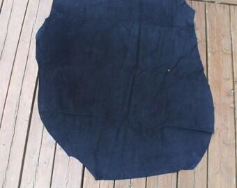 3 Blue Pig suede skins