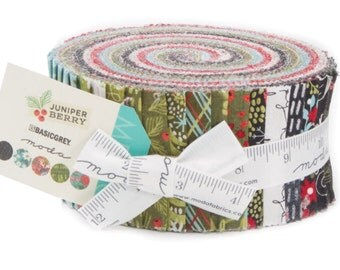 Juniper Berry cotton jelly roll fabric by Basic Grey for Moda fabrics