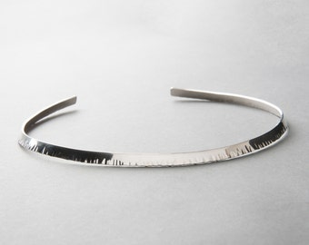 Silver or Vermeil Hammered Collar Necklace   Sequence Collection by Haley Lebeuf