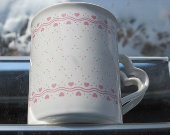Vintage To My Sweetheart, Happy Valentine's Day 1987 Enesco Mug - FREE SHIPPING