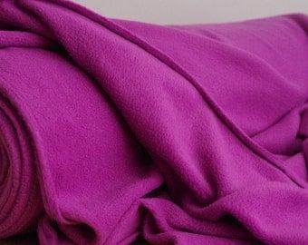 Grape purple polar fleece fabric by the yard