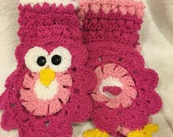 Extra Long Crochet Owl Scarf