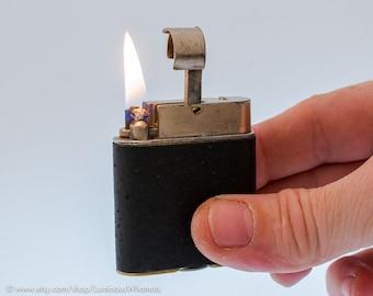 Rare 1920s Guinn's Pocket Imp Lighter With Black Leather Covering