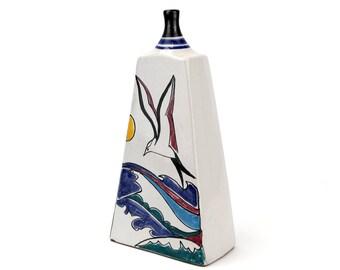 Vintage Hand Painted Portuguese Vase