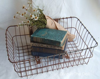 Vintage Metal Wire Androck Front Bicycle Basket