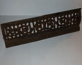 Antique iron rusted grate old metal work nice open scroll design Great to upcycle display steampunk