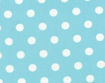 """Twin Size """"Robins Egg"""" Polka Dots"""" Bed Runner or Bed Scarf"""