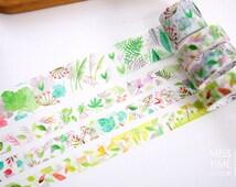 Wild Grass Road - Japanese Washi Masking Tape Box Set - 3.3 Yard (each roll) - 4 rolls